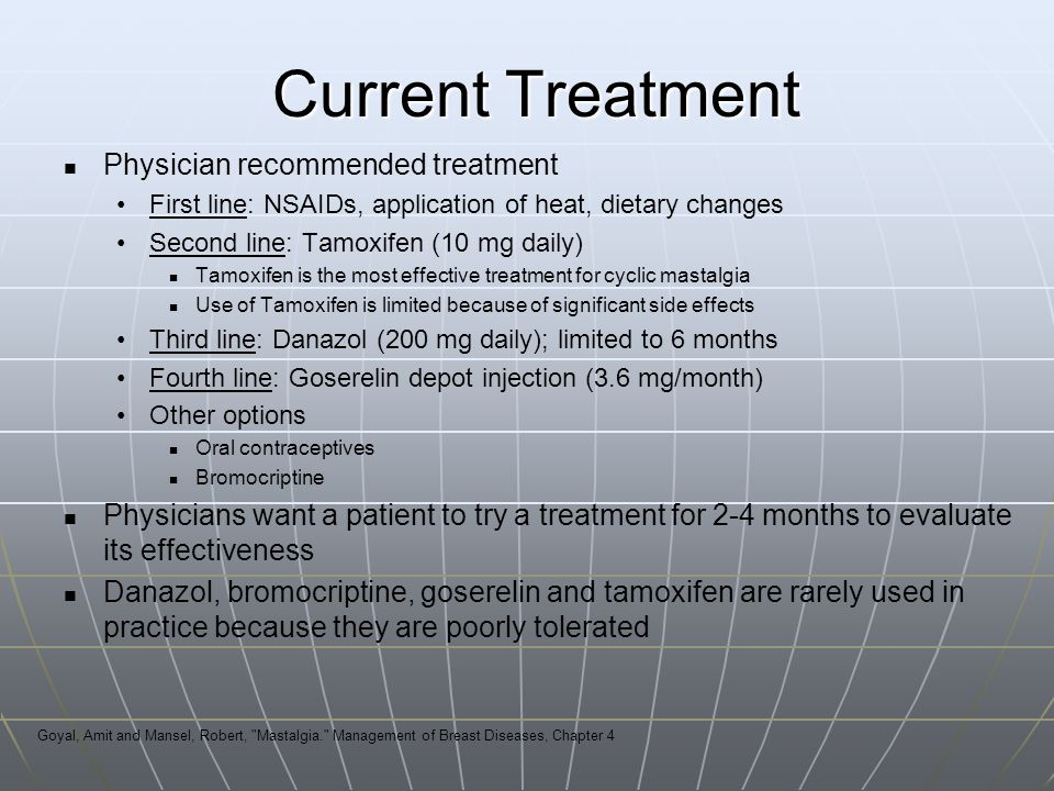 Current Treatment Physician recommended treatment