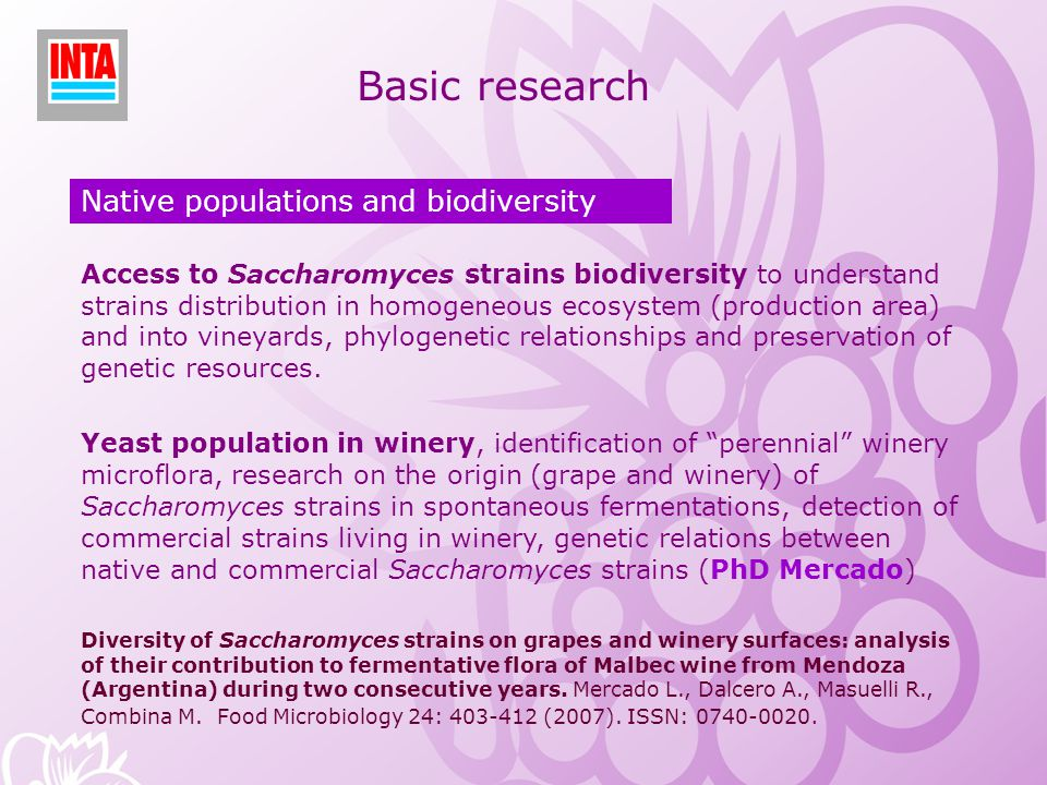 Basic research Native populations and biodiversity