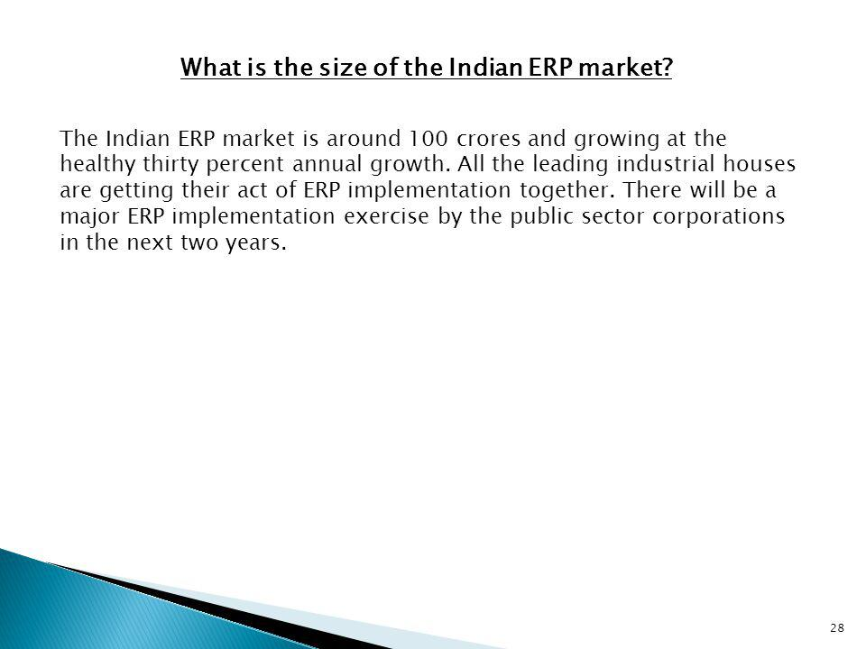 What is the size of the Indian ERP market