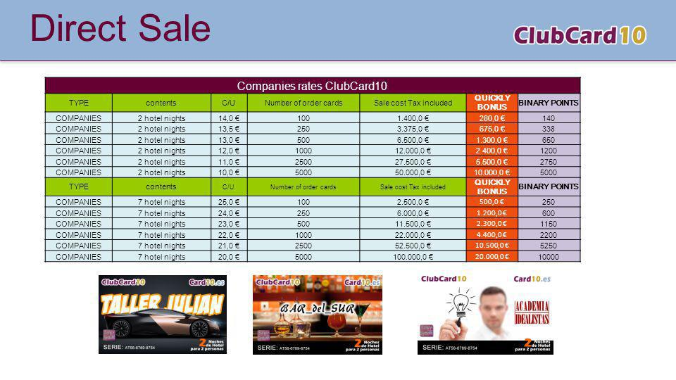 Companies rates ClubCard10