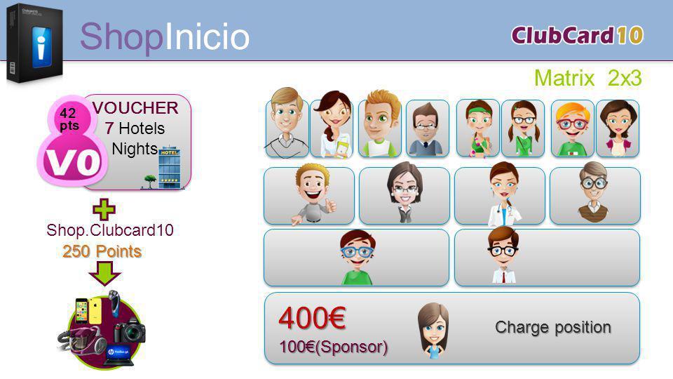 ShopInicio 400€ Matrix 2x3 VOUCHER 7 Hotels Nights Shop.Clubcard10