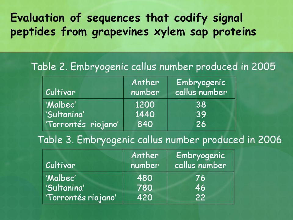 Evaluation of sequences that codify signal peptides from grapevines xylem sap proteins