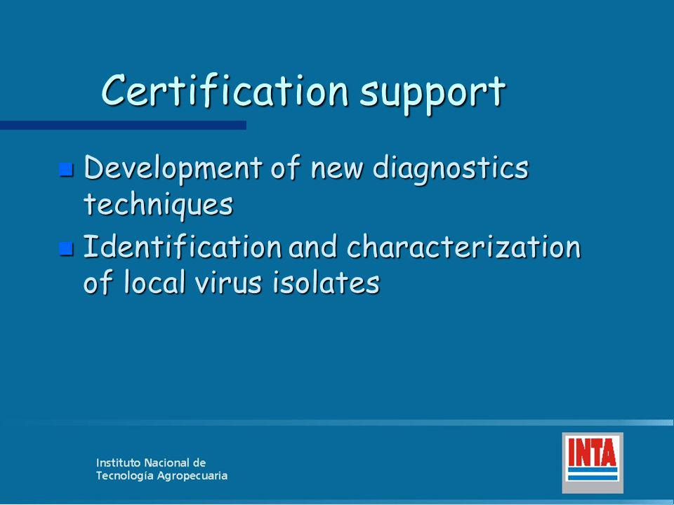 Certification support