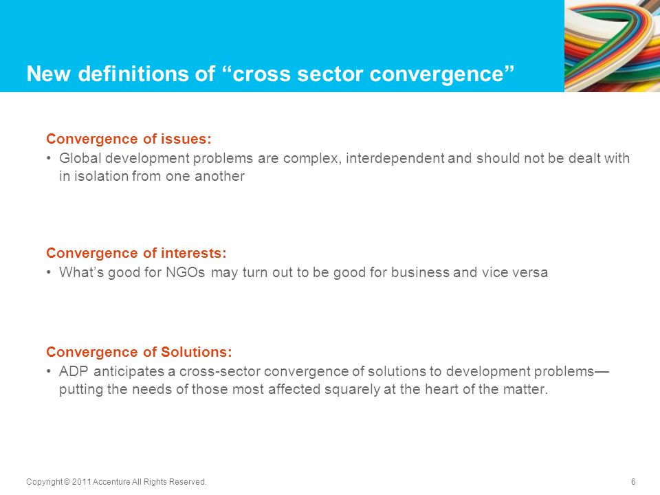 New definitions of cross sector convergence