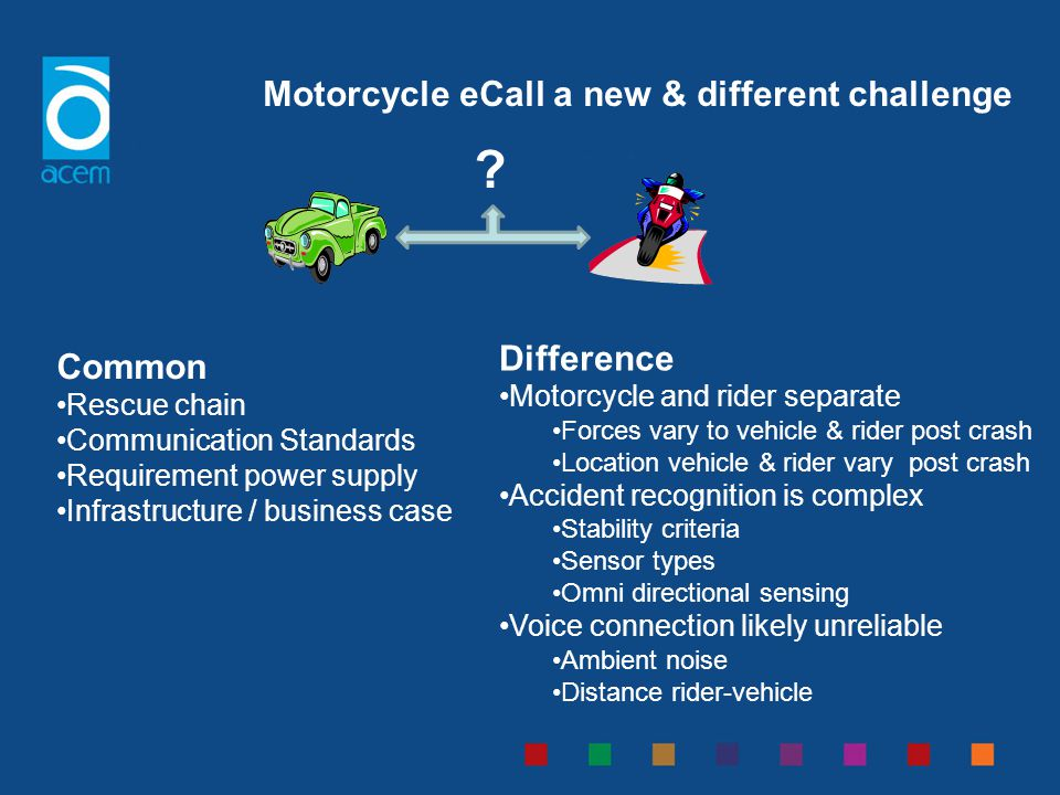Motorcycle eCall a new & different challenge