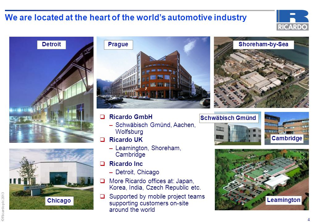We are located at the heart of the world's automotive industry