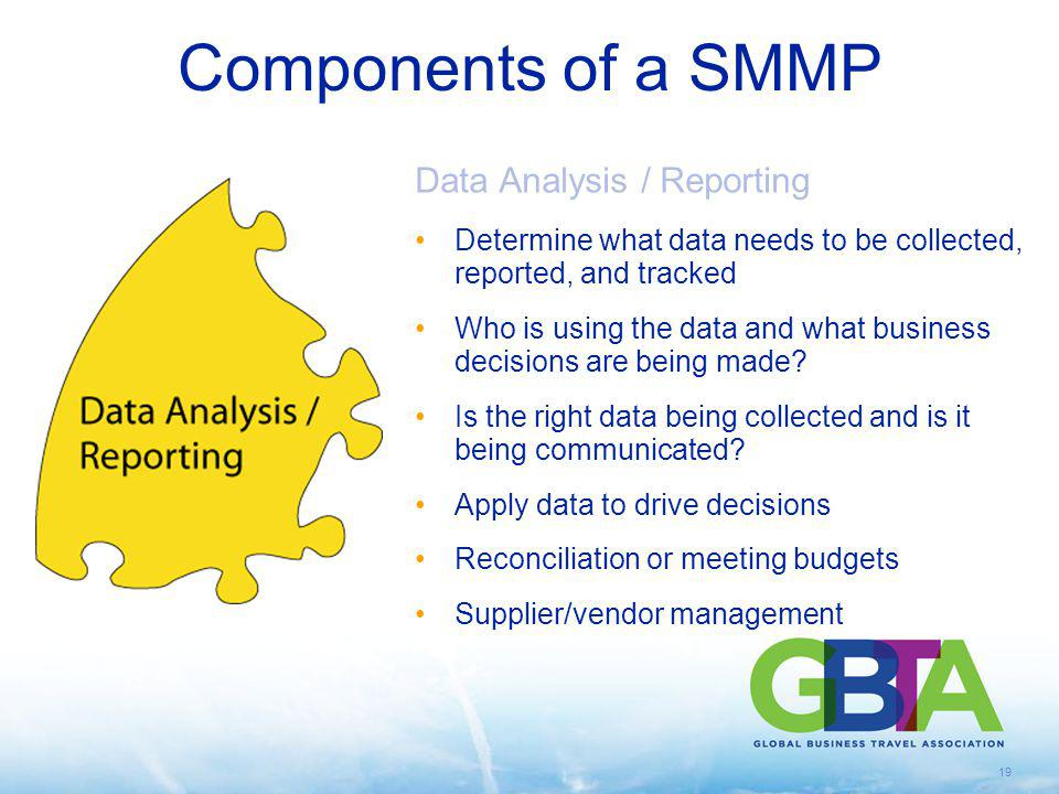 Components of a SMMP Data Analysis / Reporting