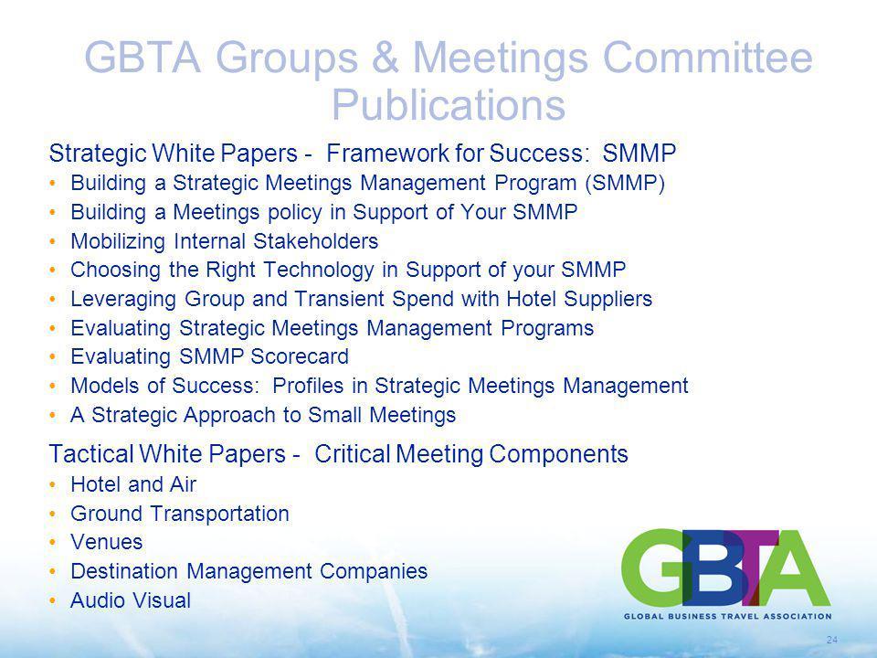 GBTA Groups & Meetings Committee Publications