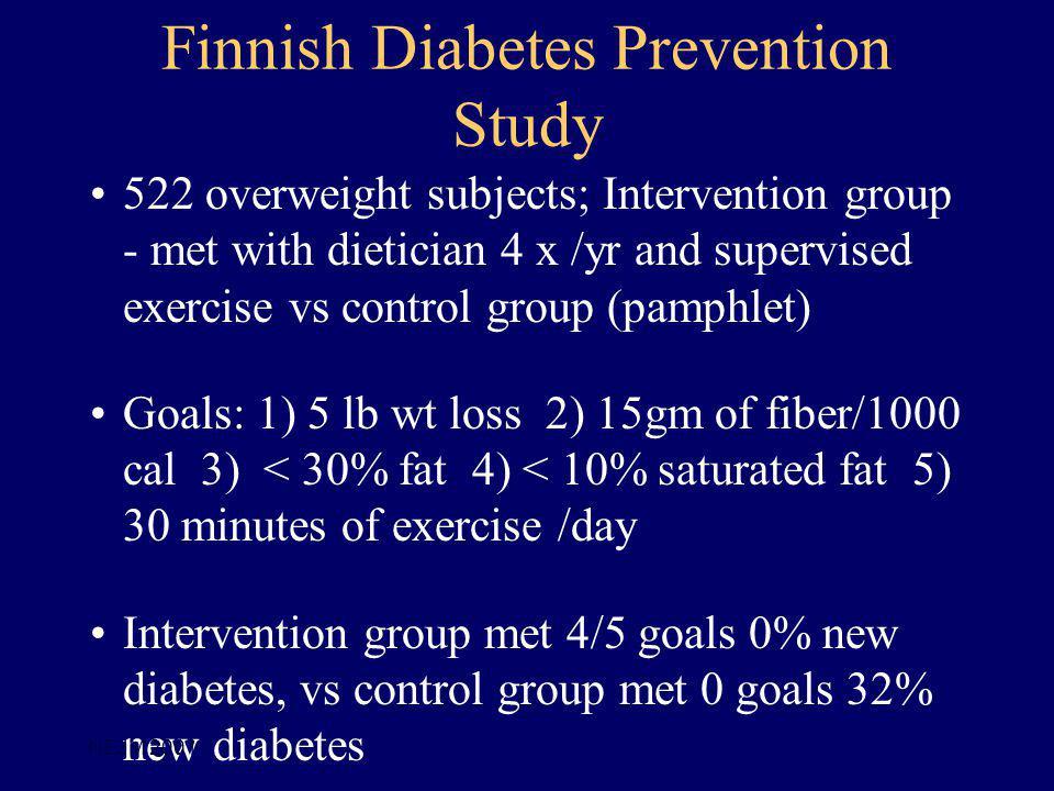Finnish Diabetes Prevention Study