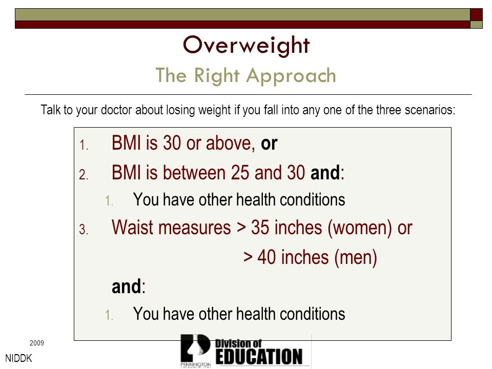 Overweight The Right Approach