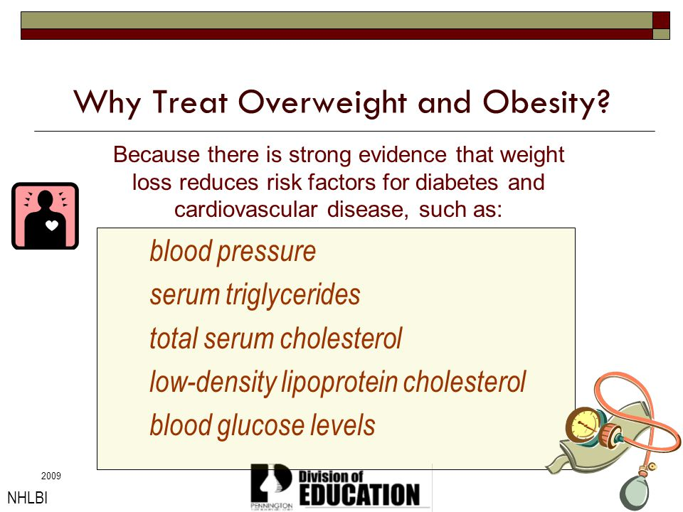 Why Treat Overweight and Obesity