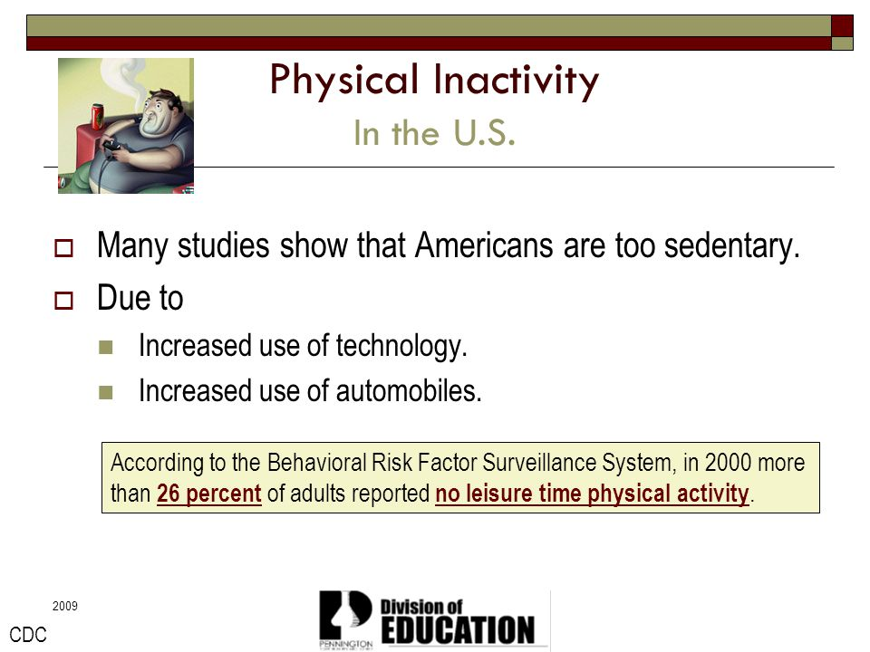 Physical Inactivity In the U.S.