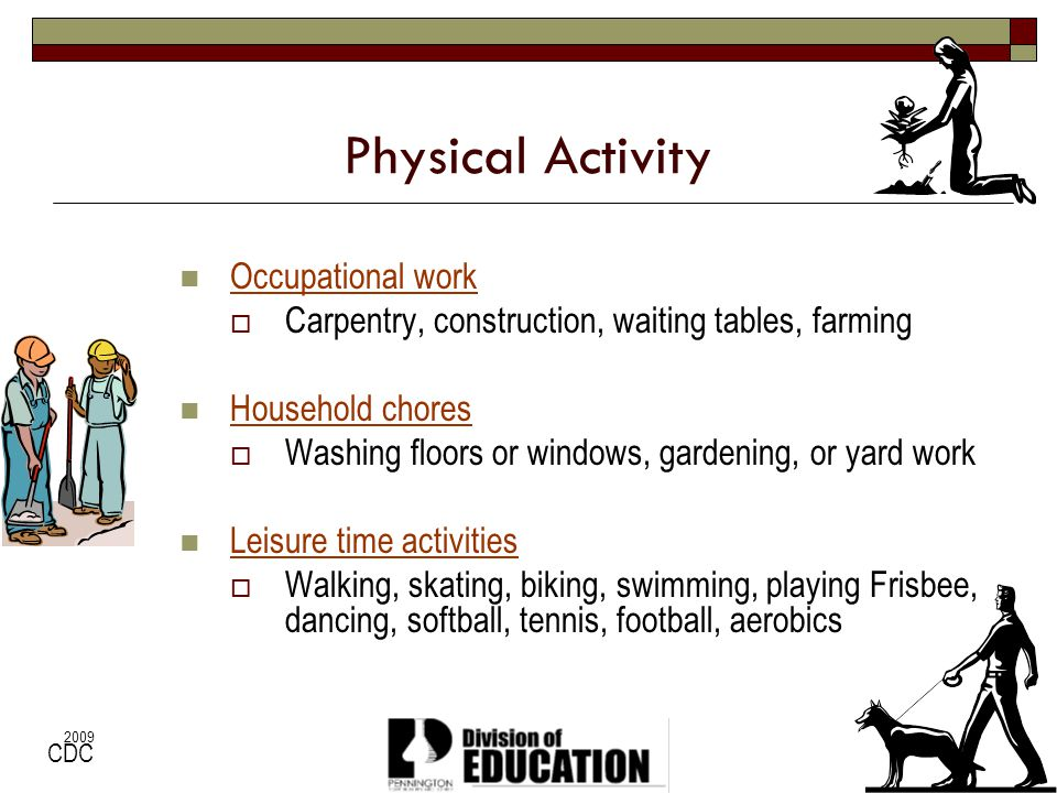 Physical Activity Occupational work