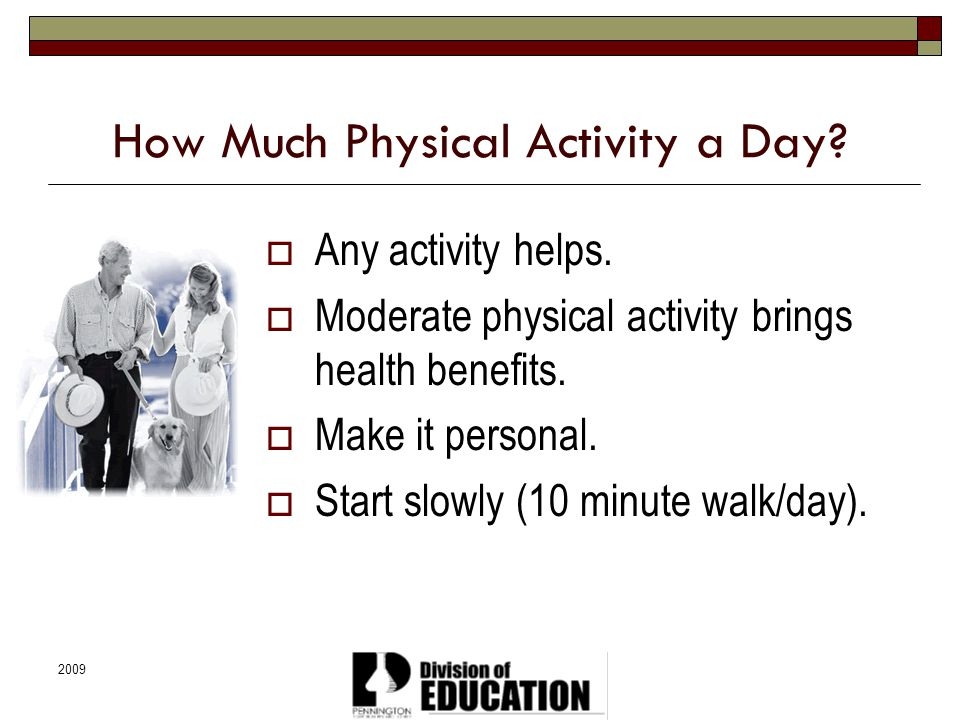 How Much Physical Activity a Day