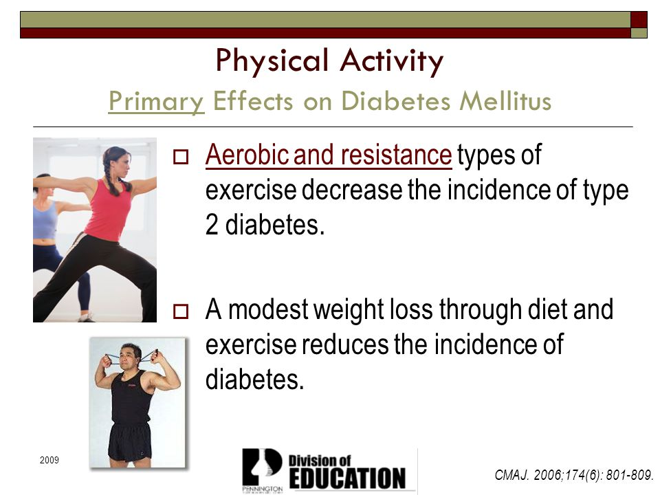 Physical Activity Primary Effects on Diabetes Mellitus