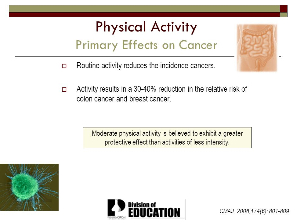 Physical Activity Primary Effects on Cancer