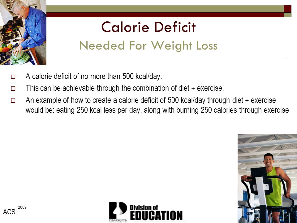 Calorie Deficit Needed For Weight Loss