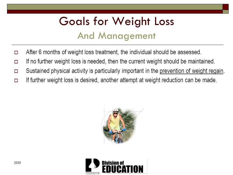 Goals for Weight Loss And Management