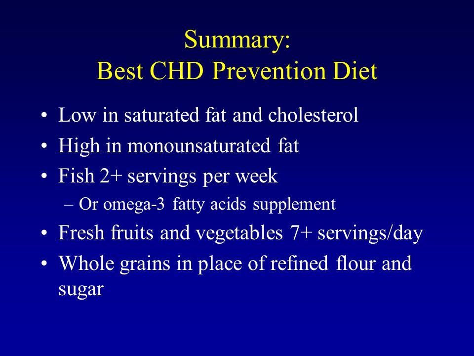 Summary: Best CHD Prevention Diet