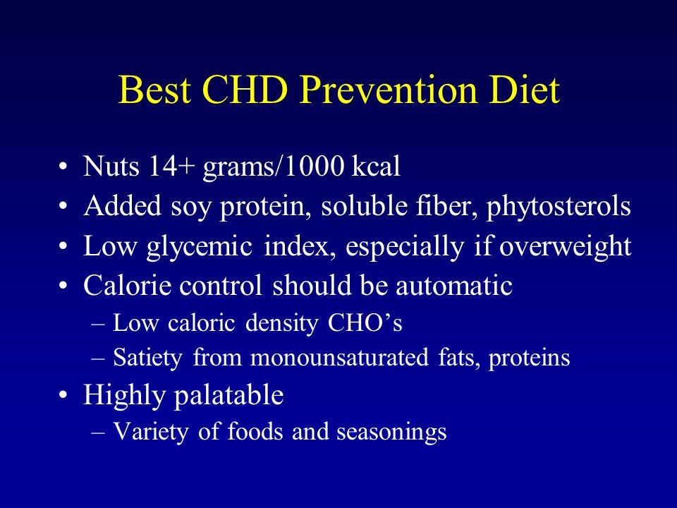 Best CHD Prevention Diet