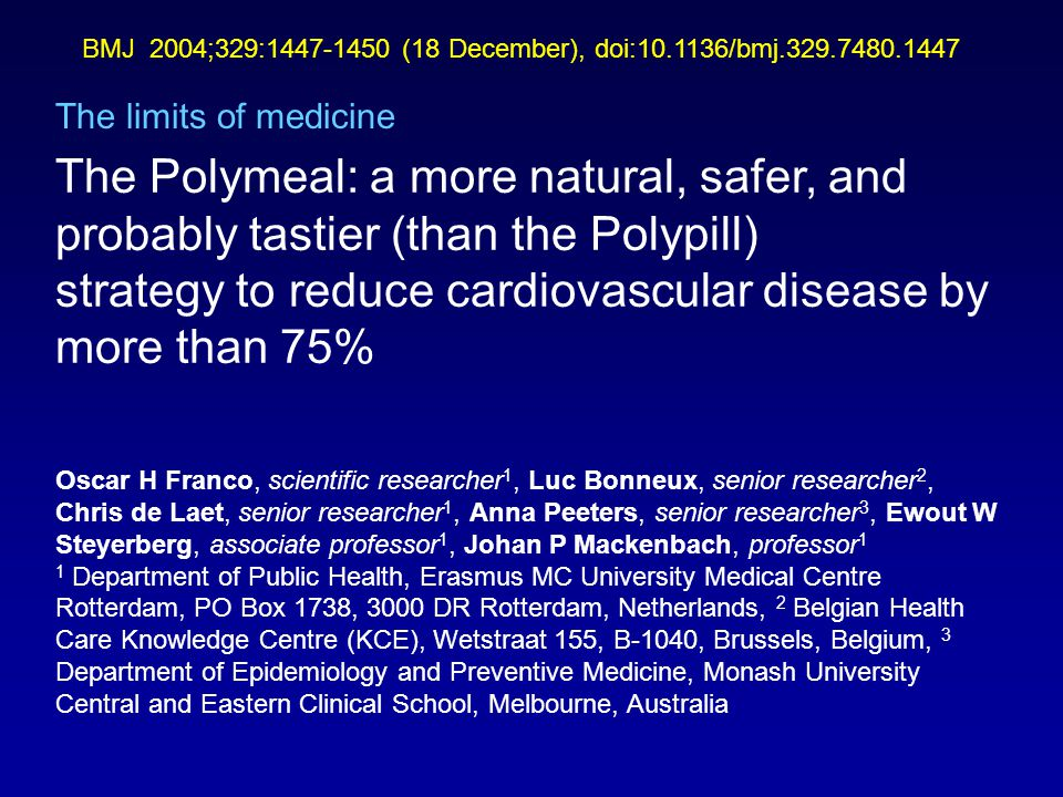 strategy to reduce cardiovascular disease by more than 75%