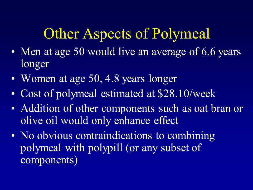 Other Aspects of Polymeal