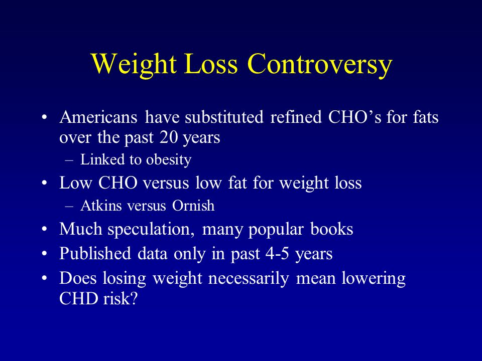 Weight Loss Controversy