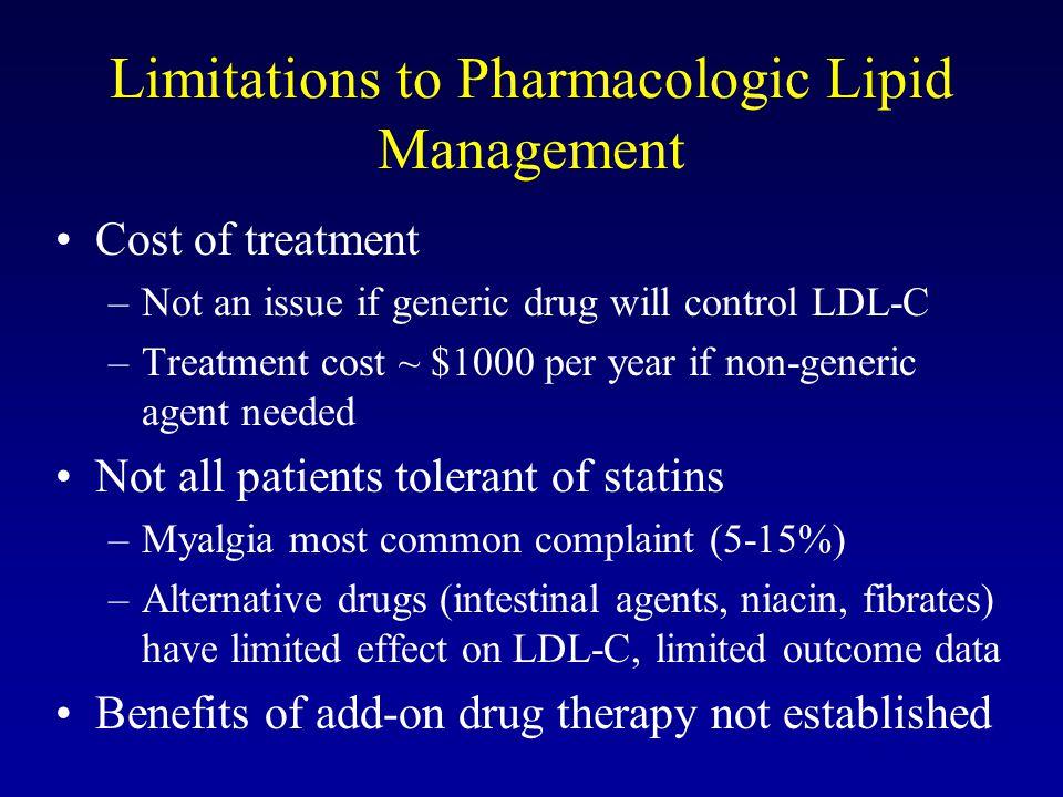 Limitations to Pharmacologic Lipid Management