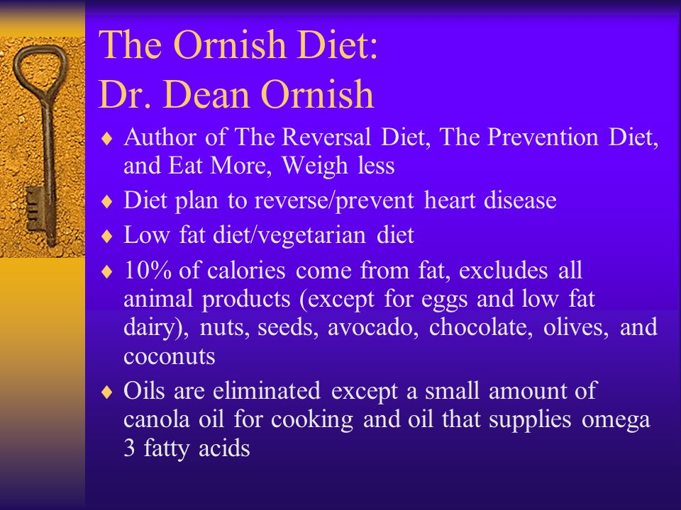 The Ornish Diet: Dr. Dean Ornish