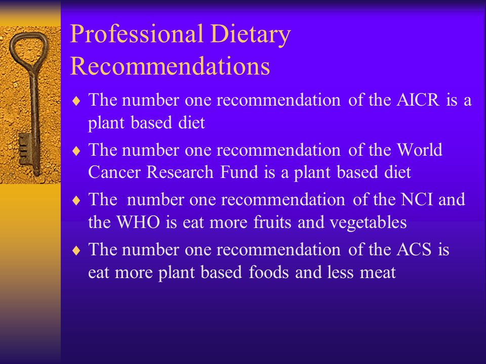 Professional Dietary Recommendations