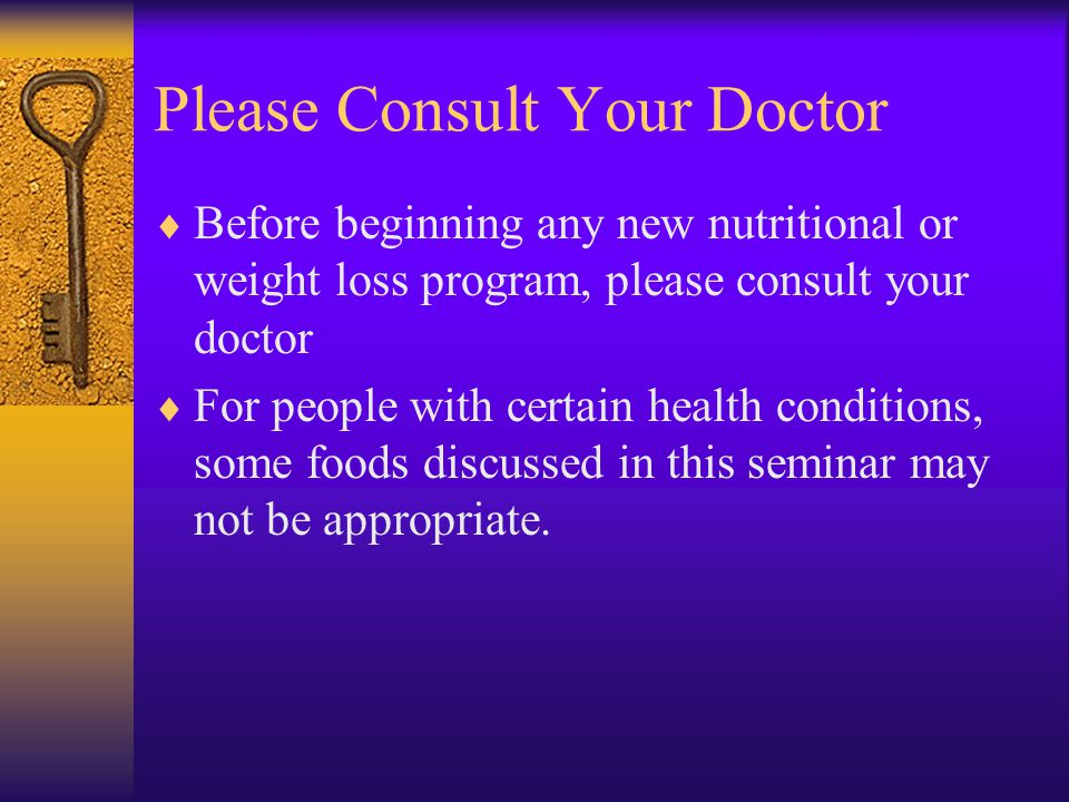Please Consult Your Doctor