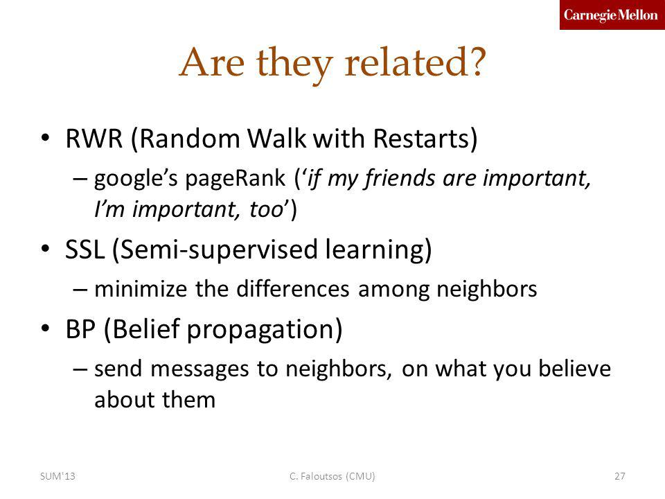 Are they related RWR (Random Walk with Restarts)
