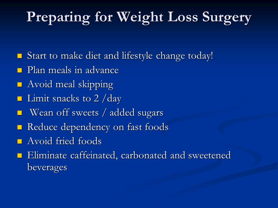 nutrition guidelines for weight loss surgery