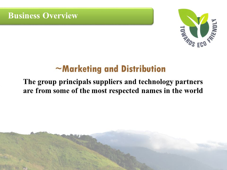 ~Marketing and Distribution