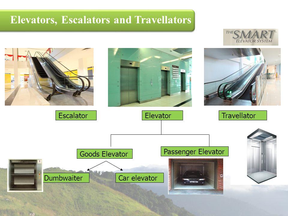 Elevators, Escalators and Travellators