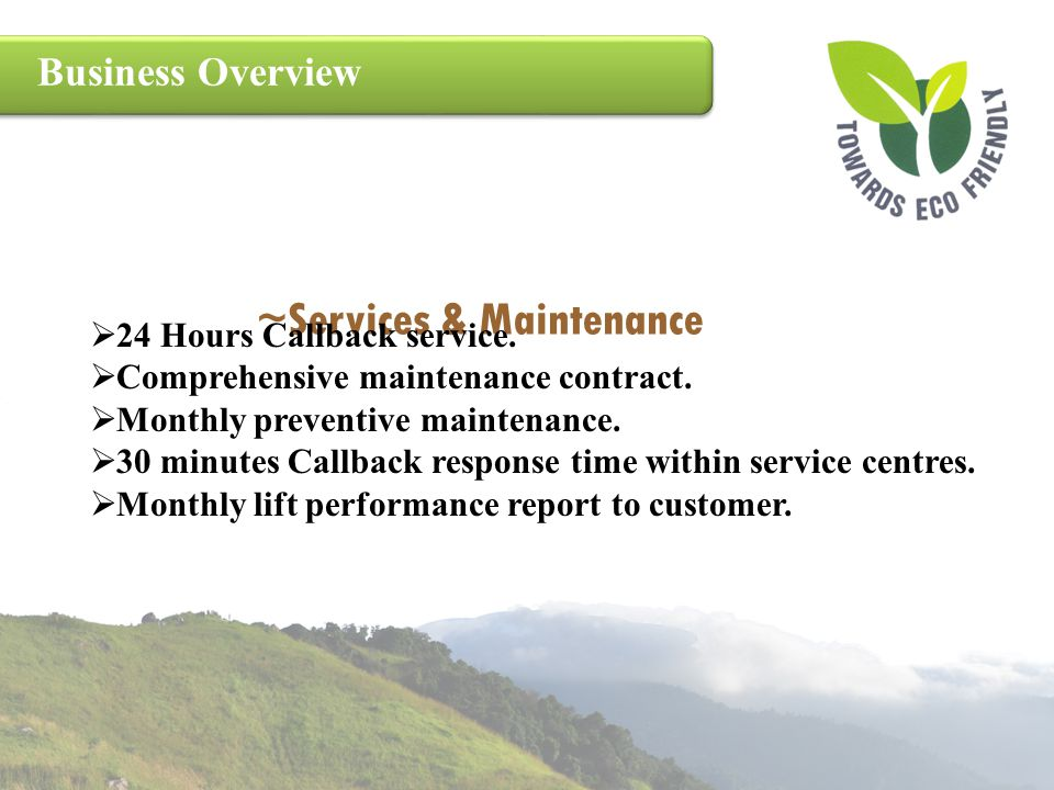 ~Services & Maintenance