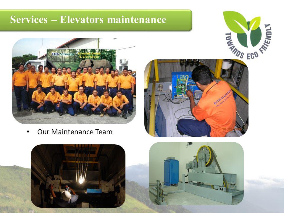 Services – Elevators maintenance