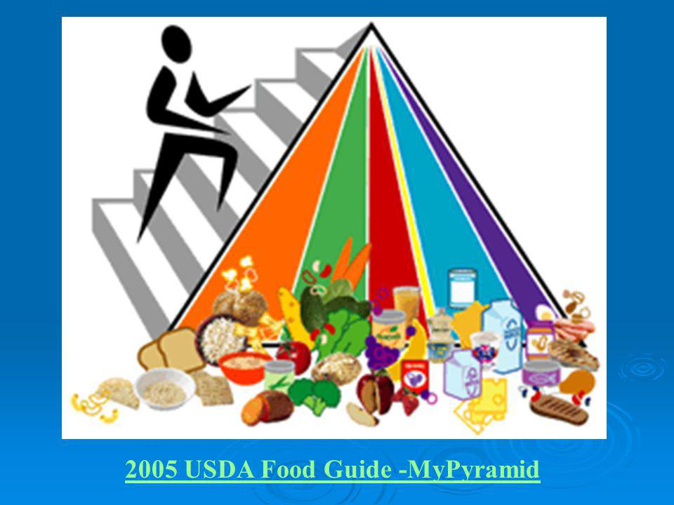 2005 USDA Food Guide -MyPyramid