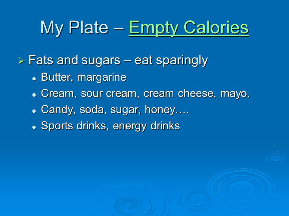 My Plate – Empty Calories