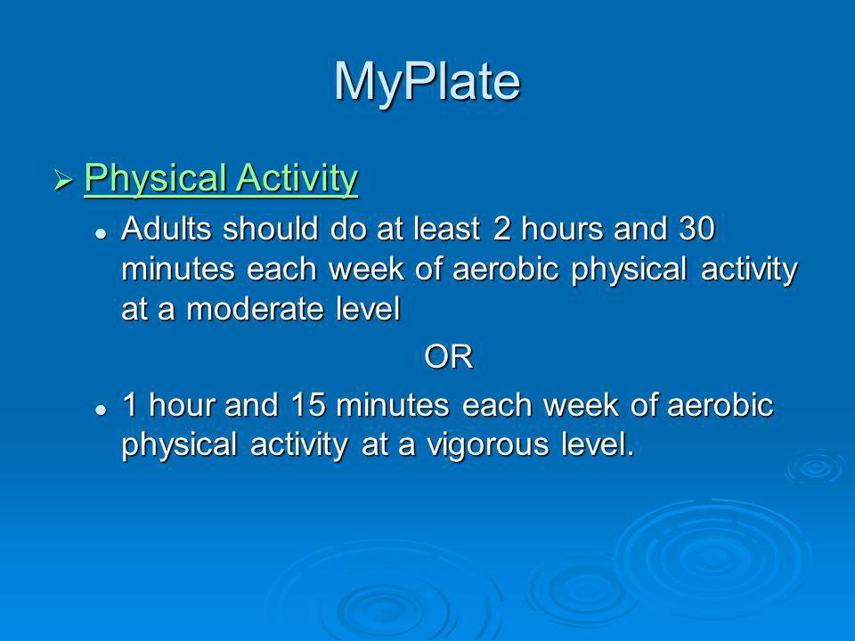 MyPlate Physical Activity