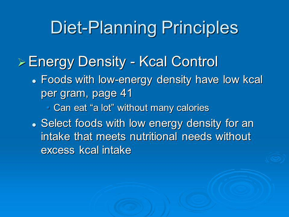 Diet-Planning Principles