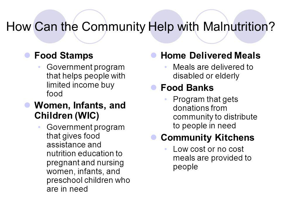 How Can the Community Help with Malnutrition