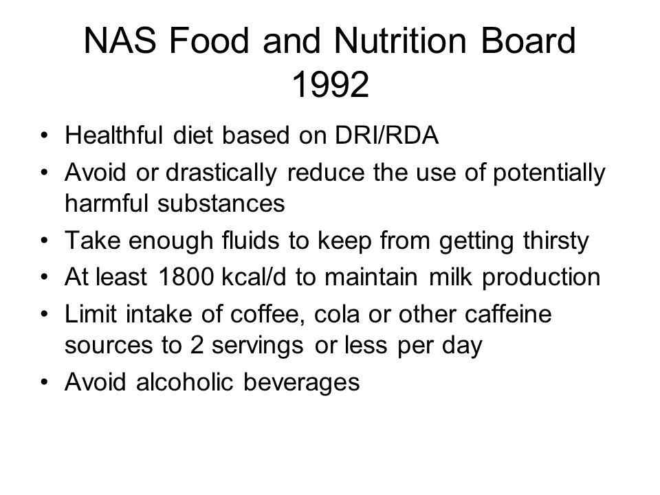 NAS Food and Nutrition Board 1992