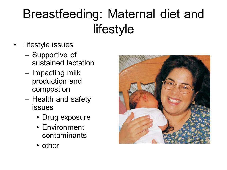 Breastfeeding: Maternal diet and lifestyle