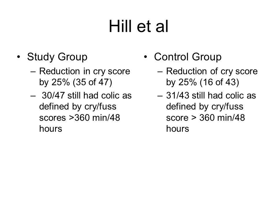 Hill et al Study Group Control Group