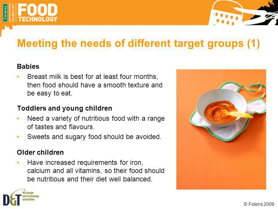 Meeting the needs of different target groups (1)