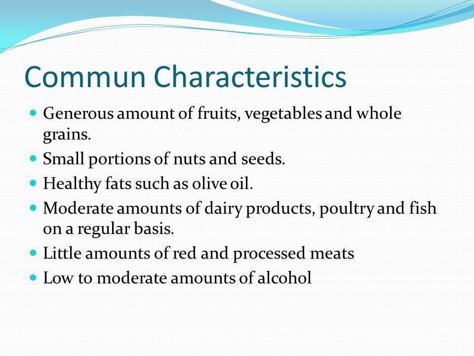 Commun Characteristics