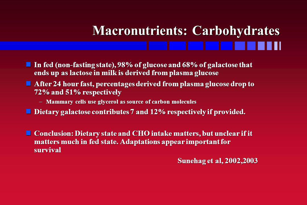 Macronutrients: Carbohydrates