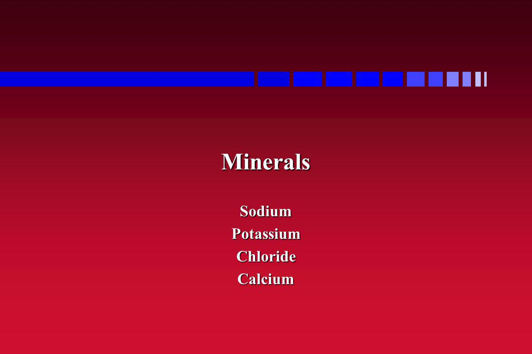 Sodium Potassium Chloride Calcium