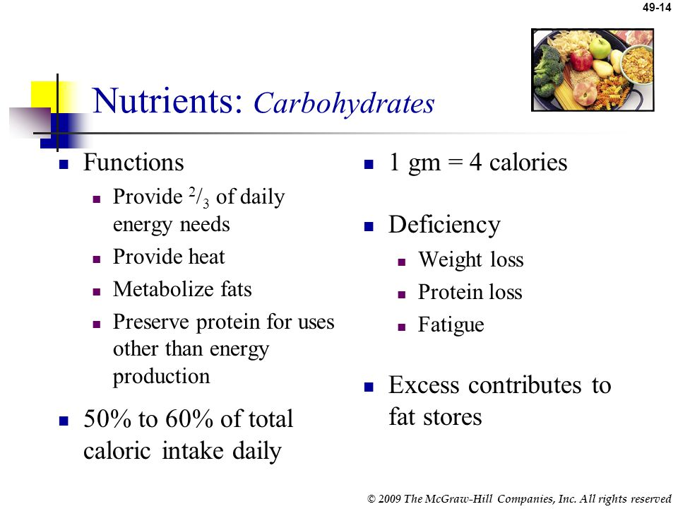 Nutrients: Carbohydrates